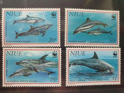 Niue 1993 Mi.822-5 14€ - Delfíni, mořské ryby & ochrana přírody