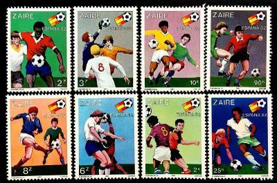 Zair/Kongo 1981 Mi.722-31 13€ - Mistrovství světa ve fotbale, sport