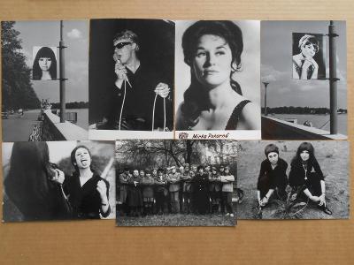 SEMAFOR, BLEHÁROVÁ, POKORNÁ, M. VOLEK ....7 ks ORIG. DOB. FOTO 1970
