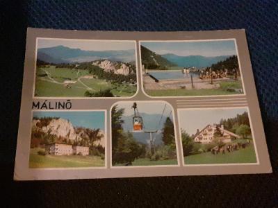 Pohlednice  Málinô, neprošlé poštou