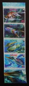 Nevis 2009 Mi.2380-3 6,4€ - Mořská fauna země, olihně, ochrana přírody
