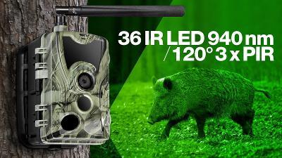 EVOLVEO StrongVision 4GA, 4G LTE, kamera, fotopast s aplikací, SIM