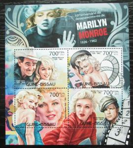 Guinea-Bissau 2012 Marilyn Monroe Mi# 6092-95 Kat 11€ 2217