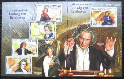 Niger 2015 Ludwig van Beethoven Mi# 3652-56 Kat 24€ 2217