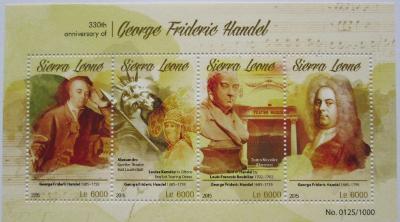 Sierra Leone 2015 Georg Friedrich Händel Mi# 6617-20 Kat 11€ 2217