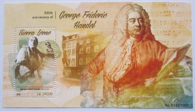 Sierra Leone 2015 Georg Friedrich Händel Mi# Block 856 Kat 11€ 2217
