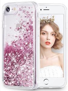 Iphone 7 Plus, kryt obal plovoucí brokát lesklé pouzdro apple brokat28