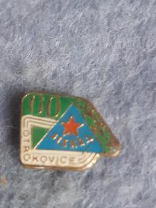 odznak Jiskra Otrokovice - výročí 60 let