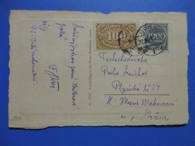 *CL151  *  NĚMECKO - DR, pohled *  BONN - PRAHA  1923