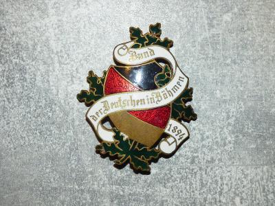 Obří spolkový odznak z c.k. monarchie, vzadu předělaná jehlice, jinak