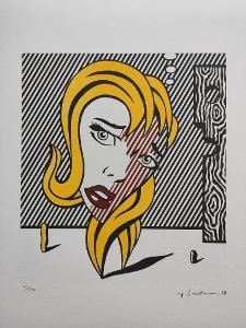 Roy Lichtenstein - BLONDÝNKA - Certifikát, signováno, číslováno