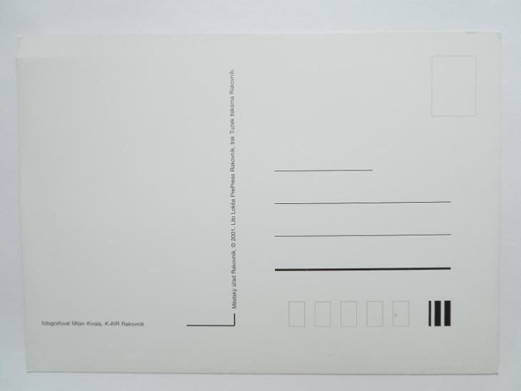 RAKOVNÍK - letecký - ERB - Pohlednice