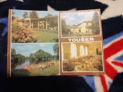 Pohlednice - Toušeň, prošla poštou