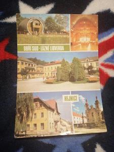 Pohlednice - Lázně Libverda, Hejnice, prošla poštou