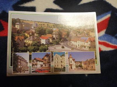 Pohlednice - Luhačovice, prošla poštou