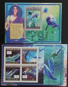 Guinea 2011 Mi.8324-7+Bl.1946 30€ - Delfíni a mytologie, ryby moří