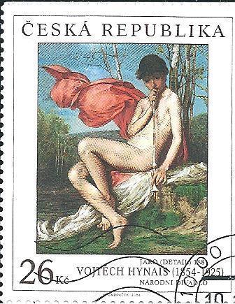 Umění na zn.2004, raž. zn.vál. razítkem v den vyd. z lepem. k.č. 419.