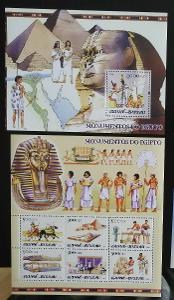 Guinea-Bissau 2005 Mi.3114-9+Bl.519 28€ - Starověký Egypt, historie