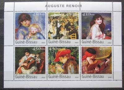 Guinea-Bissau 2003 Umění, Renoir Mi# 2676-81 Kat 10€ 2219