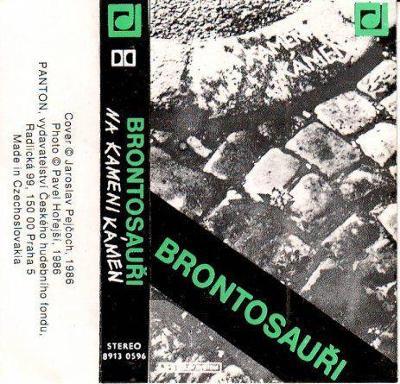Audio Kazeta BRONTOSAUŘI Na kameni kámen 1986 Panton