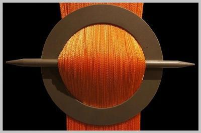 Krásná pestře oranžová provázková záclona 2x 90cm x 250cm