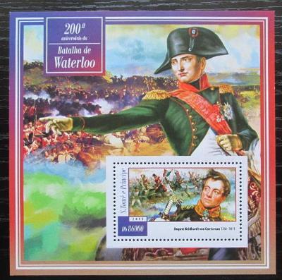 Svatý Tomáš 2015 Bitva u Waterloo Mi# Block 1054 Kat 8.50€ 2225
