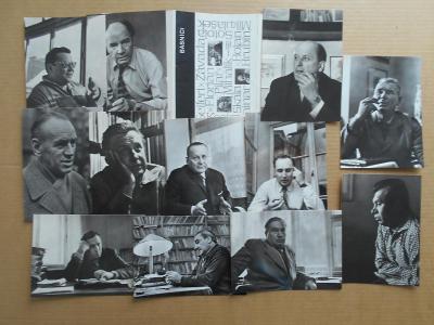 Umělecké foto BÁSNÍCI soubor 12 ks 1963 ERICH EINHOR  r. 18x13 cm obal