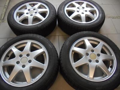 205 55 16 zimní+16 alu VW Golf, Škoda Octavia, Seat, 5x112,ET50, 4kusy