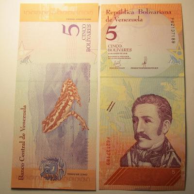 Venezuela - 5 Cinco Bolívares 2018