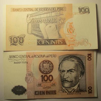 Peru - 100 Gien  Intis 1987