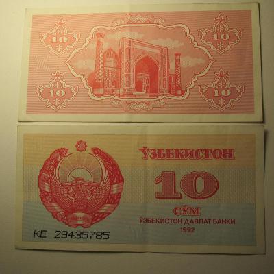 Uzbekistán - 10 Sum 1992