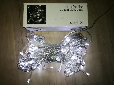 LED řetěz (typ SL-80 studená bílá)