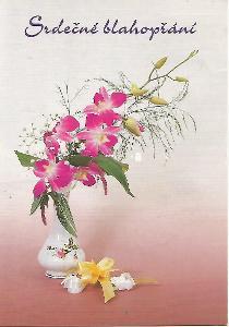 kytice, foto ARIA, Srdečné blahopřání 5-2727°°