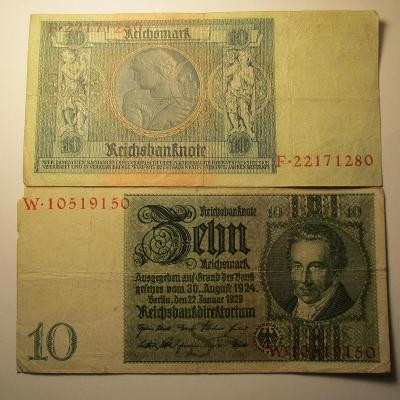 Německo - 10 Reichsmark 1924