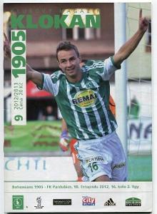 program - Bohemians 1905 - FK Pardubice - 2012