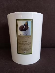 Chladič na víno keramický bílý, 18 cm - NOVÝ