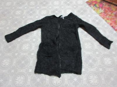 svetr dlouhý na zip černý