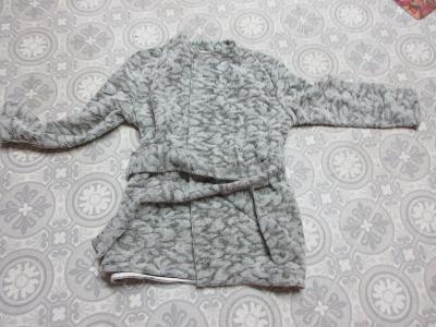 svetr -kabátek dlouhý na pásek