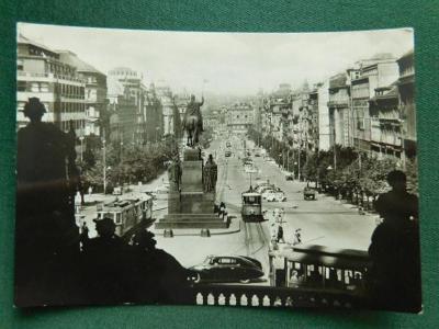 Praha - Václavské Náměstí - Tramvaj  (velký formát)