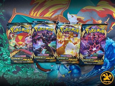 Pokemon TCG Sword & Shield Darkness Ablaze booster packs balíčky
