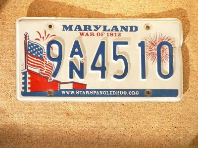 USA SPZ, Maryland originál...