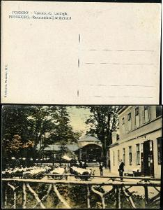 09 SR BA BRATISLAVA Poszony Železná studnička hostinec exteriér 1911