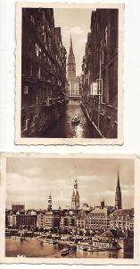 Německo-SRN-Hamburg-2 fota starého města Hamburg...