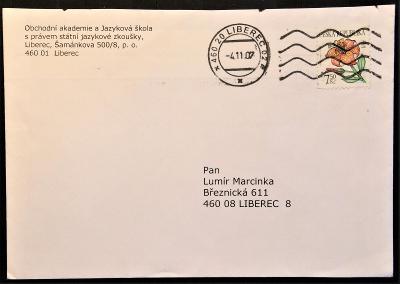 ČR - dopisní obálka - pošta Liberec