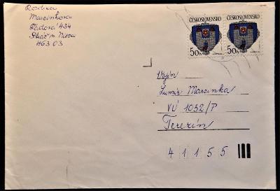 ČSSR II - poštovní obálka