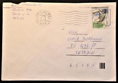 ČSSR II - poštovní obálka - pošta Liberec