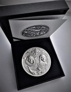 Ag Medaile, Bitva na Bílé Hoře 1620/2020!! Proof! Pouze 50 ks! Oppl