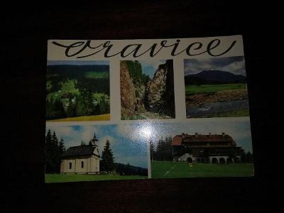 Pohlednice - Oravice, prošla poštou