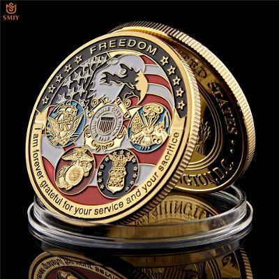 Pamětní mince - USA Navy USAF USMC Army