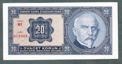 20 korun 1926 serie RF NEPERFOROVANA stav 0